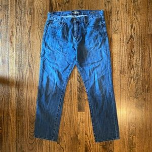 Mens Lucky Brand 221 Original Straight Jeans 36x32
